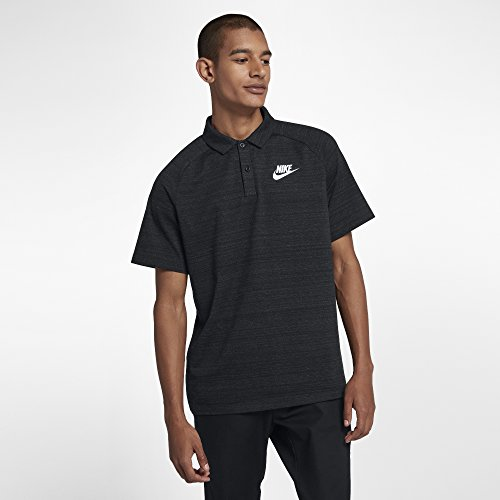 Nike Herren Sportswear Advance 15 Poloshirt, Black/Heather/White, L Preisvergleich