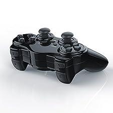 CSL - Wireless Gamepad für Playstation 2 / PS2 mit Dual Vibration - Joypad Controller   neues Modell   schwarz