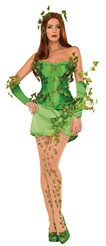 (Women's Deluxe Poison Ivy Corset Fancy dress costume Small)
