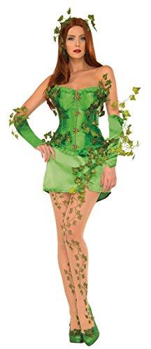 Women's Deluxe Poison Ivy Corset Fancy dress costume (Für Kostüme Erwachsene Poison Ivy)