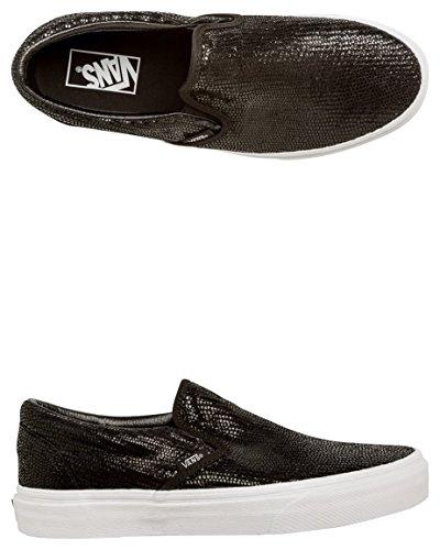Herren Slip On Vans Classic Slip-On Slippers (pebble snake) black