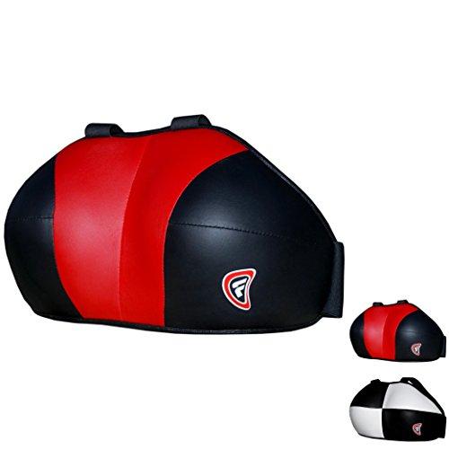 Farabi Damen Brustschutz Brustschutz Brust Schutz Boxen MMA Muay Thai Martial Art schutzausrüstungen Brustschutz, rot / schwarz, L / XL -
