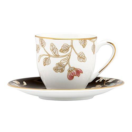 Floral Demitasse (Lenox Marchesa Espressotasse mit Untertasse Camellia)