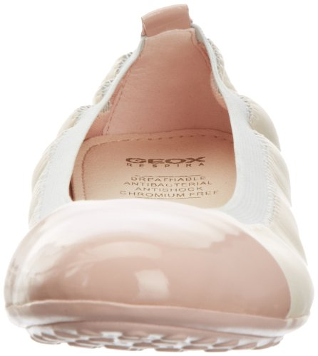 Geox J Piuma Bal. B, Ballerines fille Multicolore - Multicolore (Cream/Rose)