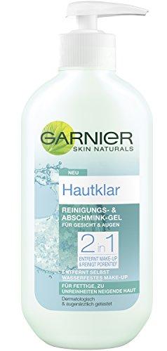 garnier hautklar anti pickel Garnier Hautklar 2in1 Reinigungs- und Abschmink-Gel, entfernt wasserfestes Make-up, reinigt porentief, tiefenwirksam gegen Hautunreinheiten, 3er Pack (3 x 200 ml)