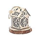 SPFAZJ Weihnachten Haus Weihnachten Glow Chalet Schnee Holzhaus mit Lichter Farbe Holzhaus Ornaments Christmas Ornaments Stift Dant