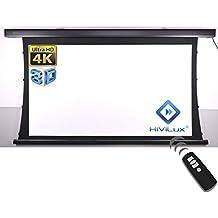 HiViLux–Tension Motor Lienzo dualspann/ganancia 1.0, tela blanca profesional cine pantalla/3d/4K/UHD/Carcasa de aluminio/No purpurina Efecto O. Hot Spot/VGN-TXN Serie