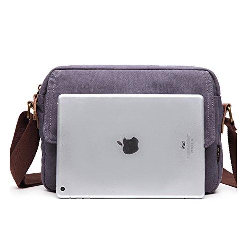Outreo Borsa Tracolla Uomo Borse a Spalla Vintage Borsello Sport Sacchetto Viaggio Borsetta Tablet Messenger Bag per Studenti Tasche Blu