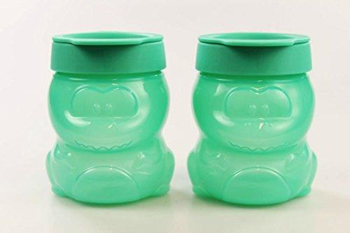 TUPPERWARE Kinder Dino Snack 300 ml türkis (2) Baby Behälter Kinder Dose