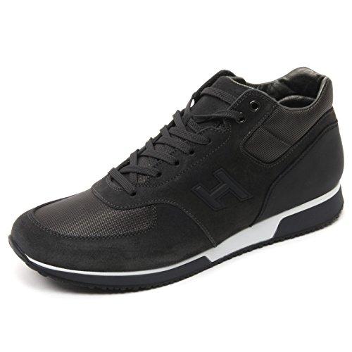 B7096 sneaker uomo HOGAN H198 MID CUT scarpa H 3D grigio scuro shoe man Grigio scuro