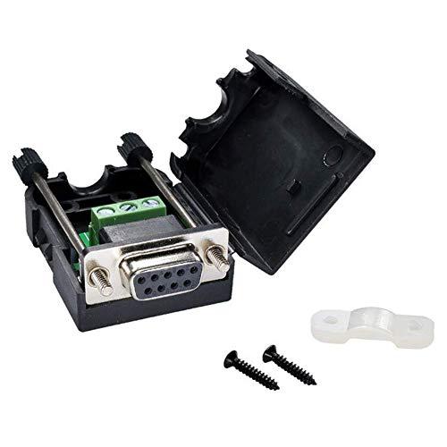 Adapter Klemmen, Bargeld Kasse D-Sub Zubehör Mini 9-polig Einfache Schweißen Gratis Rechner RS232 Breakout Stecker Buchse Signale Werkzeug Show, Free Size (Rechner Kasse)