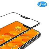 TAMOWA [2 Stück Panzerglas für Xiaomi Mi A2 Lite, Full Screen Panzerglasfolie 9H Härte Panzerglas Schutzfolie, Hohe Transparenz, Anti-Kratzen, Anti-Öl, Anti-Bläschen (Schwarz)