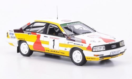 Audi-200-Quattro-No1-No-Smoking-Drei-Stdte-Rallye-limitAuf300-1987-Modellauto-Fertigmodell-Neo-Limited-300-143