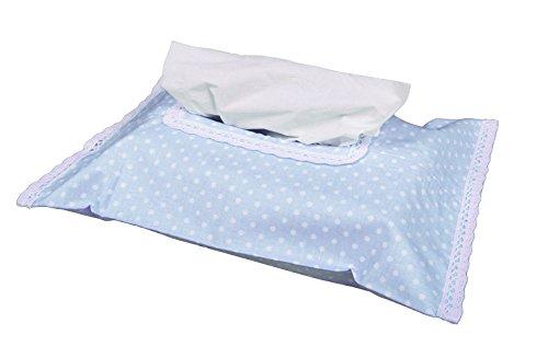 Vizaro - astuccio per salviettine detergenti baby - porta salvietti - 100% cotone - prodotto in eu con controllo di sostanze nocive - prodotto sicurocollezione blu e bianco