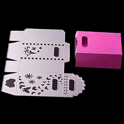 Creative DIY Foldable Cutting Dies - Indexp Metal Handmade Craft Scrapbooking Embossing Album Refills Paper Card Stencil (Cuboid)