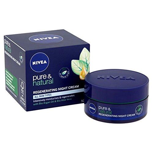 Crème Nivea Visage Pure & Natural Régénérante Nuit 50ml