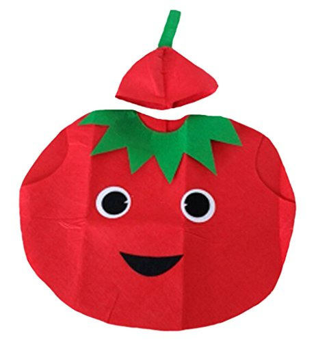 Petitebelle Halloween Weihnachten Obst Gemüse Unisex-Kostüm-Partei-Kleid-Kleidung Einheitsgröße Tomate