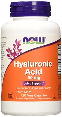 Hyaluronic acid & msm - 120 gelules vegetales - Now foods