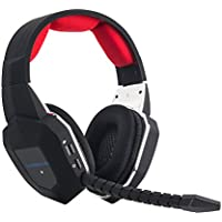 [Regalo] HAMSWAN Auriculares Gaming Inalambricos 2.4 Ghz Diadema Especial Para Xbox 360/ Xbox One/ PS3/ PS4/ PC/TV Cascos Estéreo Consola Gaming Multifunciones Flexible Micrófono Desmontable