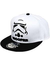 Star Wars Casquette de baseball pour homme avec attache réglable Motif Stormtrooper Noir/blanc