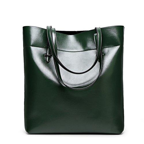 FAIRYSAN , Damen Tote-Tasche Braun Hellbraun X-Large dunkelgrün