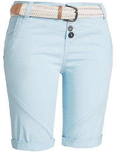 Sublevel Damen Baumwoll Shorts 61443Z 3 Farben Gr. XS-XL Hellblau