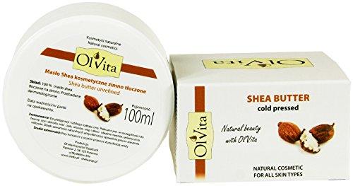 Kalt Gepresste Shea Butter (Shea Butter, Raw, Kosmetik, kalt gepresstes, Unraffiniertes, OL 'vita 100ml)