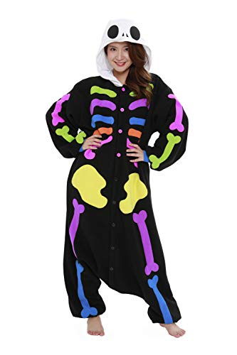 Kostüm Pyjama Kigurumi Skelett - SAZAC Fleece Pyjama Kigurumi Kostüm Buntes Skelett