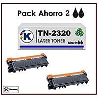 Brother HLL2340DW - Pack Ahorro 2xK TN2320 Tóner compatible para Impresora láser monocromo Brother HLL2340DW . Enviado desde Madrid. - sustituye a Brother TN-2320 - para impresoras Brother MFC-L2700 DW, MFC-L2700 Series