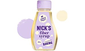 NICKS Fiber Syrup, Sciroppo di fibra dolcificante alternativo allo zucchero, senza zuccheri aggiunti, 300 g (Naturale)