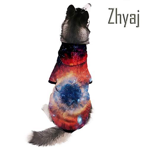 Muster Pet Kostüm - Zhyaj 3D Gedruckt Hund Hoodie Stern-Vortex-Muster Pet Sweatshirt Halloween-Kostüme für Hunde,L