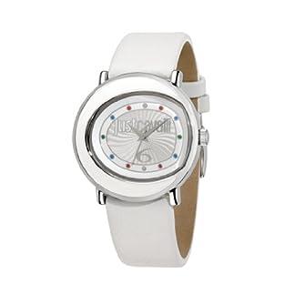 Just Cavalli R7251186504 – Reloj analógico de Cuarzo para Mujer con Correa de Piel, Color Blanco