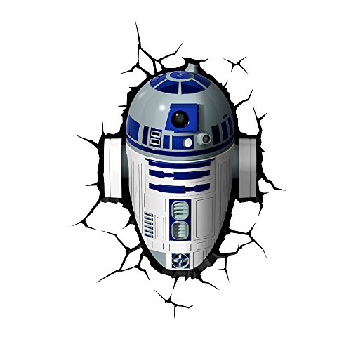 3D Light FX 50031 Star Wars R2D2 3D Deco Light, Plastic, White/Blue