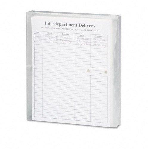 SMEAD: Poly String & Button Booklet Envelope, 115/8x 93/4x 11/4, Clear, 5/Pack -:-Verkauft als 2Packungen von-5-/- Insgesamt je 10 11.625