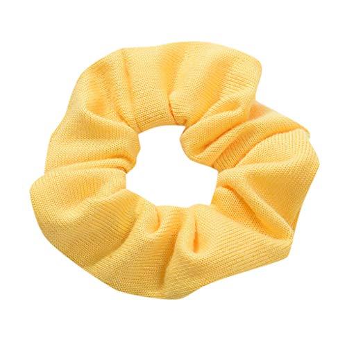 MIRRAY Frauen Elastisches Haar Seil Ring Krawatte Scrunchie Pferdeschwanz Inhaber Haarband Stirnband Gelb