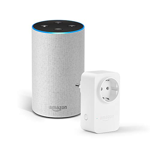 Amazon Echo (2.ª generación), tela de color gris claro + Amazon Smart...