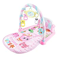 Glomixs Baby Play Mat Kick Piano Keyboard Music Playing Projection Mat Infant Exercise Education Rack Carpet