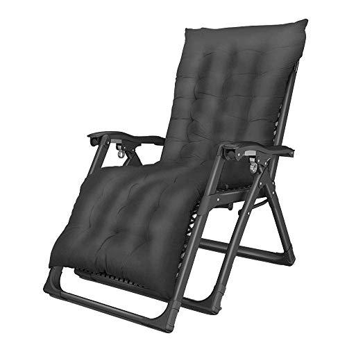 LAZ Lounge Chair Schwerelosigkeit Liegestühle Patio Klappstuhl Mittagspause Stuhl Bett Übergröße Einstellbare Liege Unterstützung £ 350 (Color : Black)