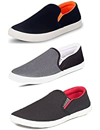 Tempo Men's Combo Pack of 3 Loafers & Moccasins