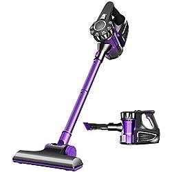 LCTXCQ W9 aspirateur sans fil, moteur 300W sans balai, aspiration puissante 8000pa, filtre HEPA, aspirateur portatif léger 2 en 1, convient à la teinture des poils d'animaux (Couleur : Purple)