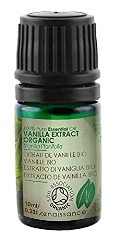 Naissance Vanilla Extract Essential Oil 10ml Certified Organic 100% Pure