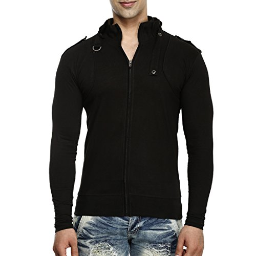 Tees Collection Men's Stylish Full Zip Buckle Neck Full Sleeve ...