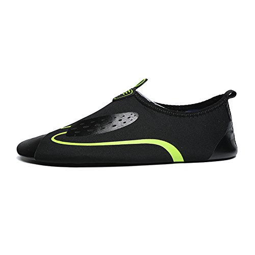 Oderola Unisex Schwimmschuhe Aquaschuhe Schnell Trocknend Wasserschuhe Rutschfeste Gummisohle Yoga Schuhe Grün