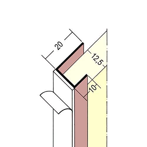 PROTEKTOR 3735, Einfassprofil selbstklebend, Plattenstärke 12,5 mm für Gipskarton, 2,50 m, Bund = 50 Stäbe, PVC, weiß