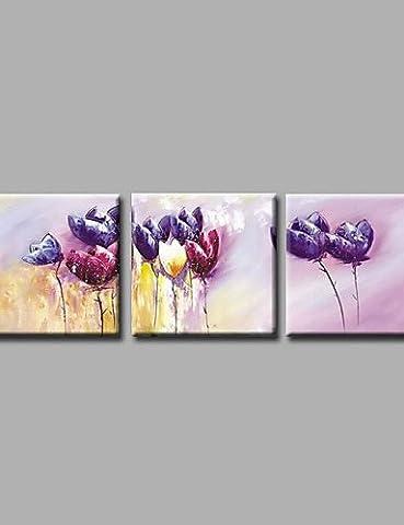 OFLADYH ® bereit, handgemalte Ölgemälde auf Segeltuchwandkunst zeitgenössische abstrakte Blumen