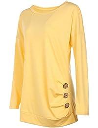 Twippo Blusas para Mujer Camisas Manga Larga