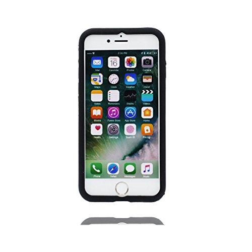 iPhone 6s Plus Custodia, TPU unico progettato morbido paraurti Shell Skin / Cartoon Copertura iPhone 6 Plus / 6S Plus 5.5 pollici (Cute 3D cane Bulldog ), Case Resistente agli urti di polvere Nero 3