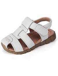 hibote Moda Verano Suave Cuero sandalias de playa Bebé Chicos Prewalker Suave Sole Auténtico Cuero Casual Al aire libre Sandalias