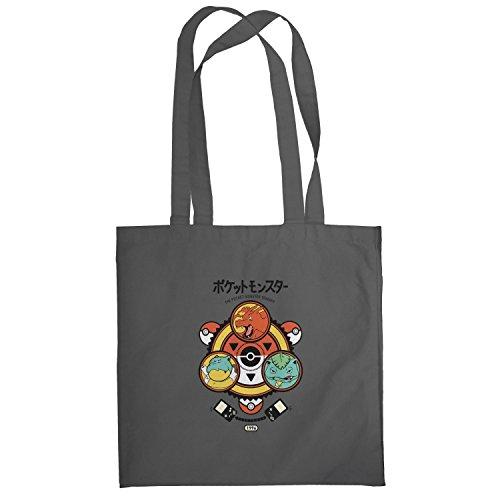 Texlab–Poke Trainer–sacchetto di stoffa Grau