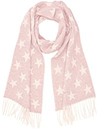 Womens Winter Star Lambswool Scarf, Grey (Light Grey Melange), One Size GANT